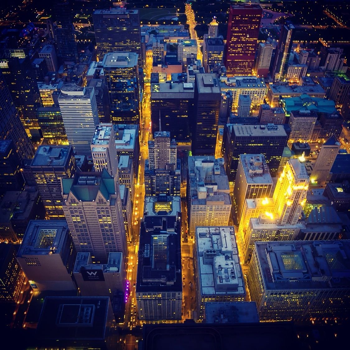 View from Willis Tower, Chicago